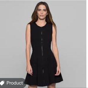 $495 Theory Black Zippered Dress s/4